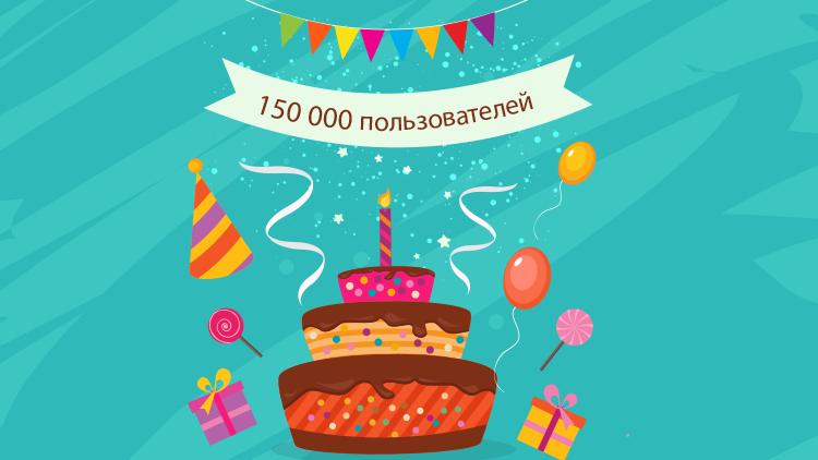 Юбилейное событие на BrainApps – 150 000 пользователей